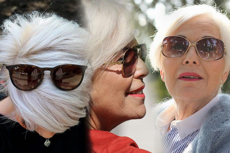 Welche Brille zu grauen Haaren kombinieren? Inspiration ️